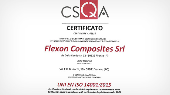 ISO 14040 Certificate